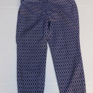 GG BLUE Black and White Golf Pants  Size 8